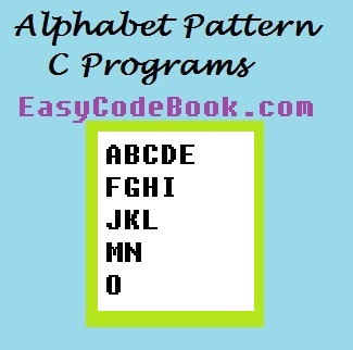 Alphabet Continuous Pattern in C Programming