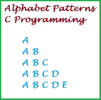 Alphabet triangle pattern 1 in C programming
