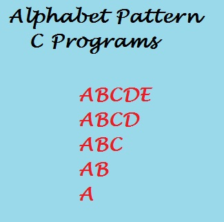 Alphabet shapes 2 in C Programming