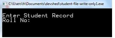 C File program to save records in binary file