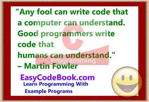 C Programming Example Programs With Tutorials on Learning C
