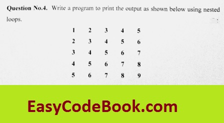 Print Square Number Pattern in C Programming
