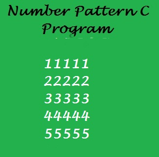 Print number square shape pattern in C programming