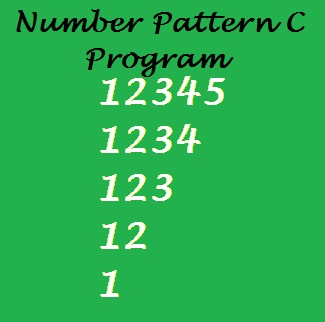 """Display Number Triangle Pattern 1 to 5"" is a C program to show the number triangle from 1 to 5 numbers as shown in the figure:"