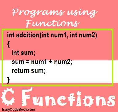 Programs Using Functions in C Programming