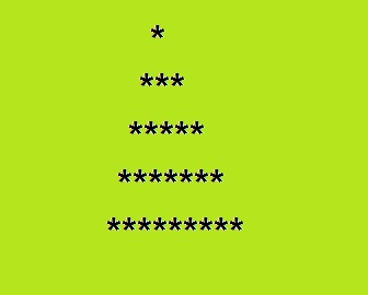 """""""Print star triangle center pattern"""" is C program to print the given output of stars pattern as shown below:"""