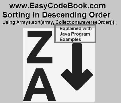 Java Arrays sort in Descending order