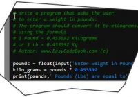 Python Pounds to Kilograms Conversion Program