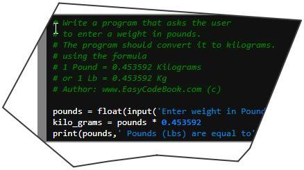 Ein pound in kg