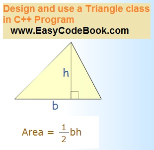 Design and Use Triangle Class - C Plus Plus Program