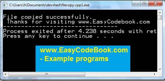C++ Program to copy all record from binary file to another file