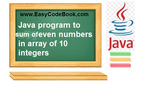 Java Array Program to Find Sum of Even Numbers in Array