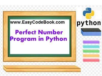 Perfect Number Python Program