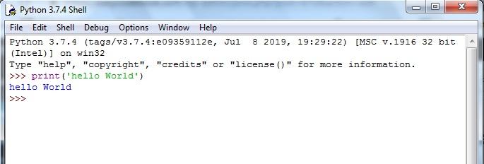 Python-IDLE-script-hello-world