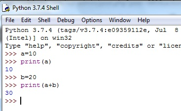 Script execution in Python IDLE