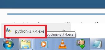 Run Python exe file