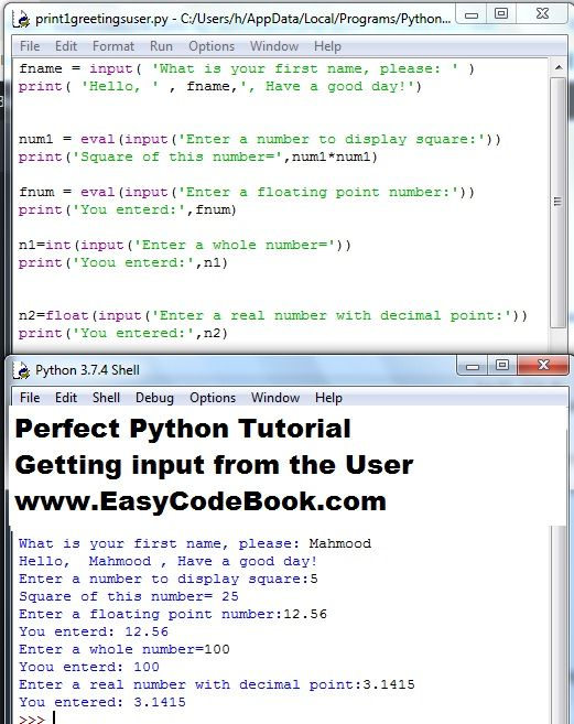 Python input function - How to get input from User