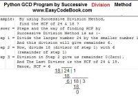 Python GCD Program by Successive Division