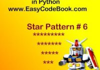 Python Program Print Star Pattern 6