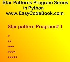 Python Star Pattern Program 1