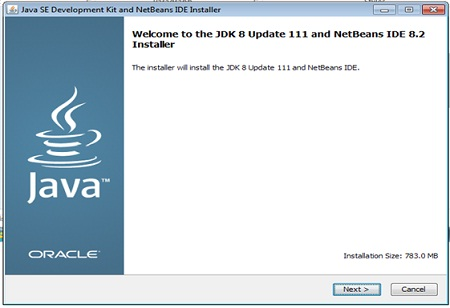 Start installation of JDK and NetBeans IDE