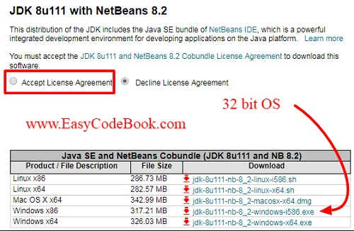 Download and install Java SE Development Kit and NetBeans IDE