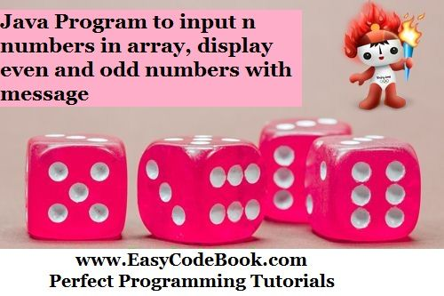 Mark Even and Odd Numbers in Java Array