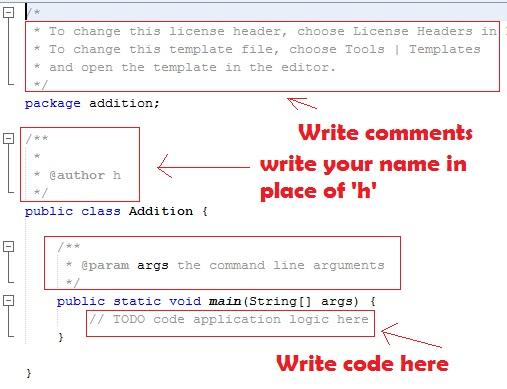 Write and run Java add program
