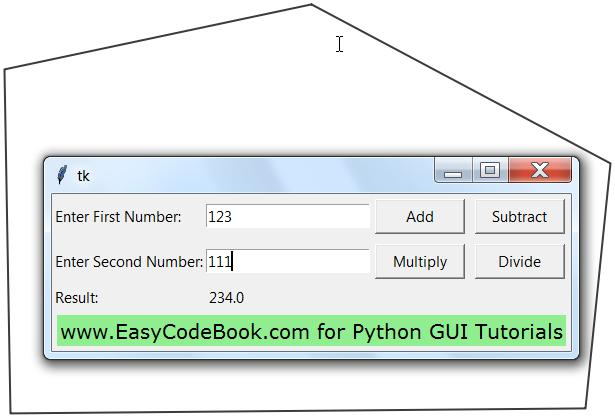 Python 3 Four Function Calculator Program tkinter GUI