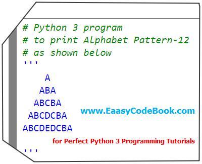 Python Print ABA Alphabet Pyramid Pattern