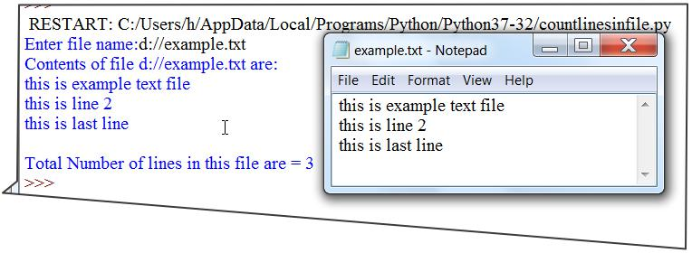 Count Lines in Text File Python Program