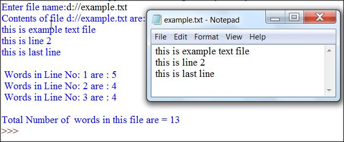 Count Words in Each Line of Text File