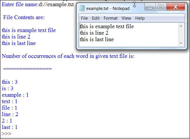 Find Occurrences of Each Word in Text File Python Program