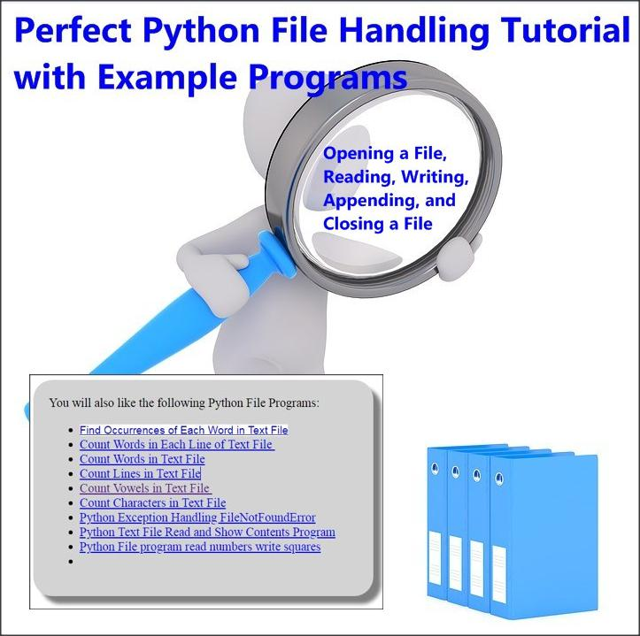 Python File Handling Tutorial With Example Programs