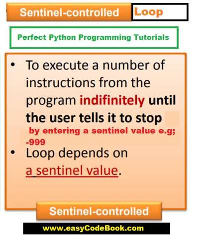 Python Sentinel Controlled Loop Example Program