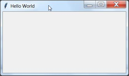 Python Tkinter GUI Program Hello World