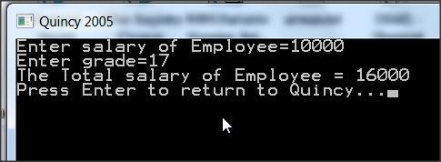 Employee Salary with Bonus Calculation C++ Program