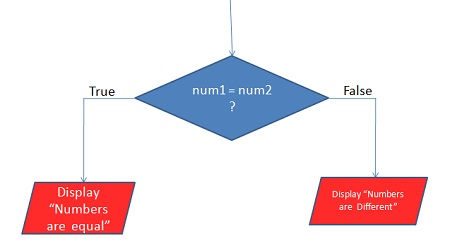 Program flow chart example with decision making symbol