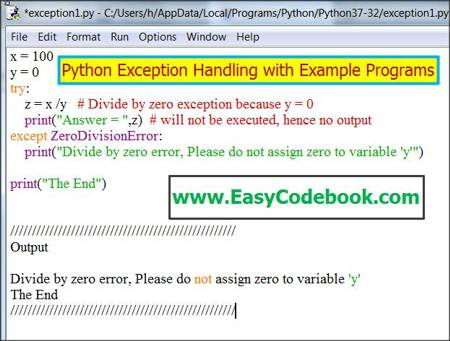 Python Exception Handling Tutorial With Example Programs