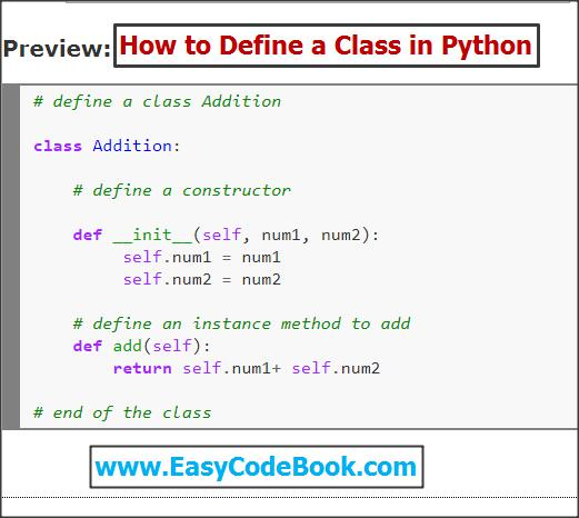Python Class and Objects With Code Examples