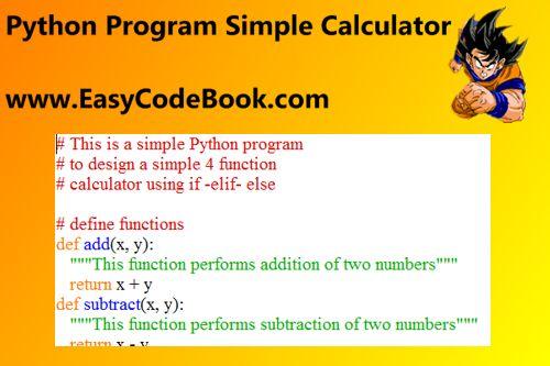 Python Simple Calculator Program