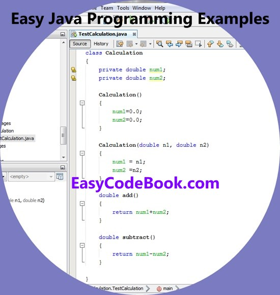 Design a New Java Calculation Class for addition and subtraction