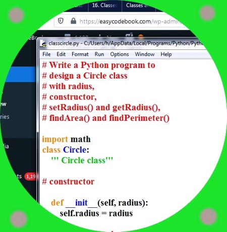 How to Create Circle Class in Python