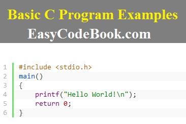Basic C Program Examples and Exercises