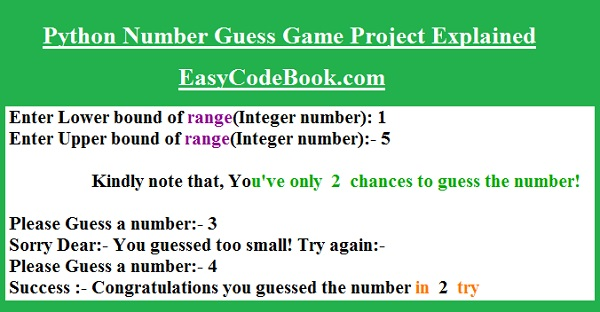 Python Number Guess Game Project