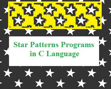 Star Pattern C Programs